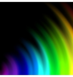 Abstract rainbow colours on a background vector image