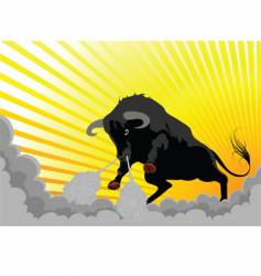 aggressive bull vector image vector image
