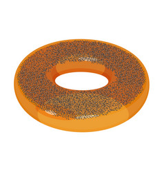 appetizing glazed ring-shaped roll bun covered vector image