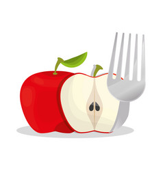 Apple healthy food menu vector