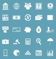 Banking icons on blue background vector image vector image