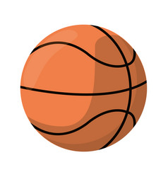 basketball ball play icon vector image vector image