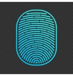 Blue isolated fingerprint vector