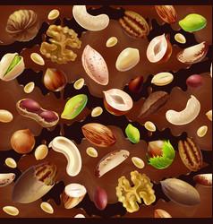 cartoon colorful organic food seamless pattern vector image vector image