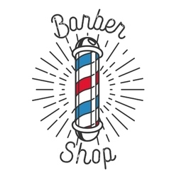 Color vintage barbershop emblem vector image