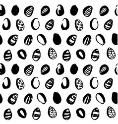 easter eggs grunge seamless pattern vector image vector image