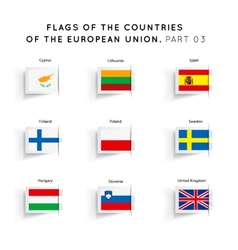 Flags of EU countries vector image vector image