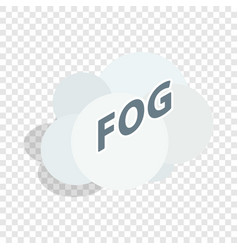 Fog cloud isometric icon vector