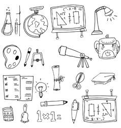 Hand draw element education in doodle vector