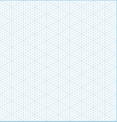 Isometric grid graph paper seamless pattern vector