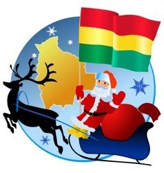 Merry Christmas Bolivia vector image vector image