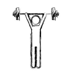 monochrome sketch of man weightlifting vector image