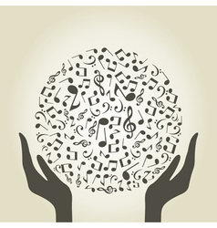 Music hand4 vector image vector image