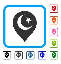 muslim symbol marker framed icon vector image