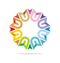 Octa house arrow design icon symbol star vector