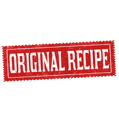 original recipe grunge rubber stamp vector image
