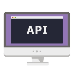 personal computer display vector image