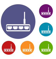 router icons set vector image