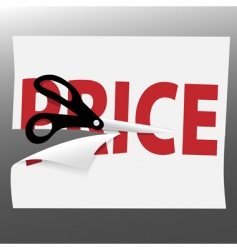scissors cut PRICE vector image