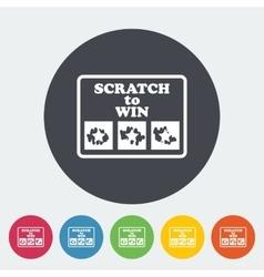 Scratch card vector image vector image
