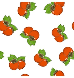 Seamless pattern of persimmon vector