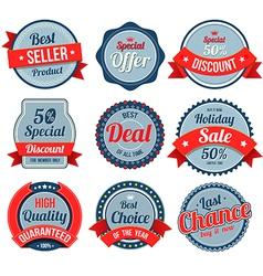 Set of retro vintage banner badges vector image vector image