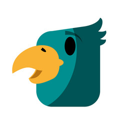 Tropical bird icon image vector
