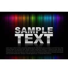 vertical lines abstract rainbow dark top text vector image