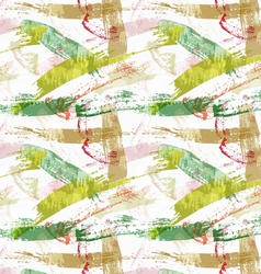 Rough brush overlapping green paint strokes vector image