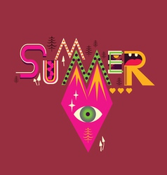 Summer art poster vector
