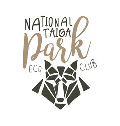 National park eco club design template hand vector