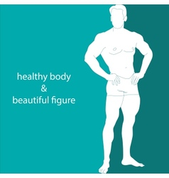 Healthy body  beautiful figure vector