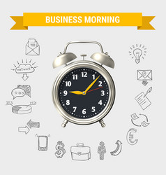 Business morning round composition vector