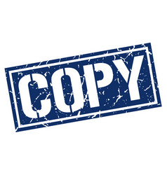 Copy square grunge stamp vector