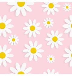 Flora daisy seamless pattern design vector