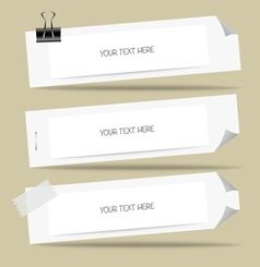 Note paper ready for your message vector