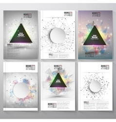 Abstract triangle design brochure flyer or report vector