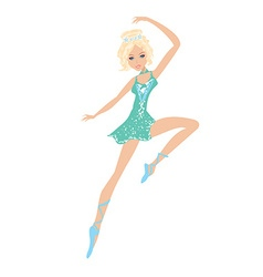 Beautiful ballet dancer vector