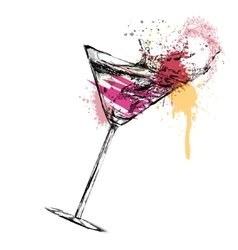 Martini cocktail on white background vector
