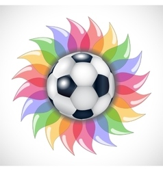 Football and flower vector