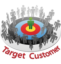 Customer target marketing vector