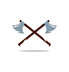 Crosswise two axes cartoon vector