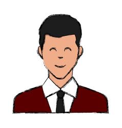 adult man smiling icon vector image