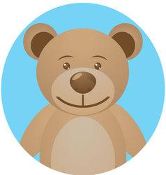 Bear teddy icon app mobile vector