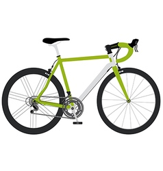 Bicycle green1 01 vector