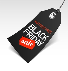 Black Friday Sale price tag vector image vector image