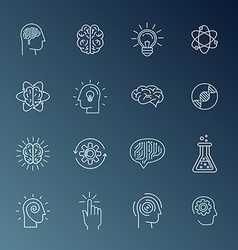 Brain and mind icons vector