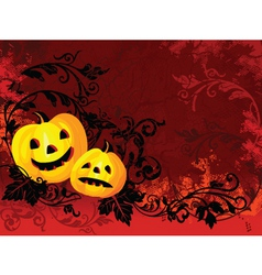 burning halloween vector image vector image