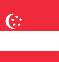 Colored flag of singapore vector