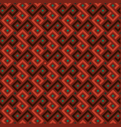 colorful african geometric ornament vector image